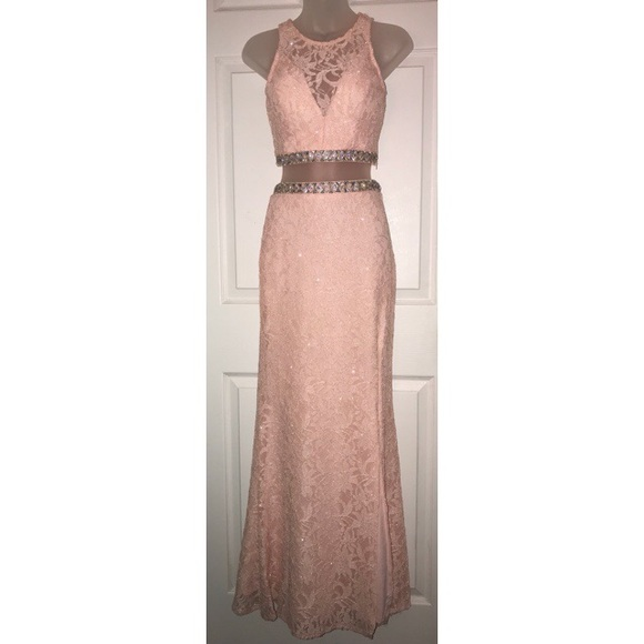 City Triangles Dresses | Two Piece Pink Sparkly Prom Dress | Poshmark
